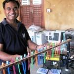 Bishnu and brush holder