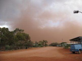 Dust storm brewing APY Lands