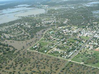 Walgett in flood February 2012