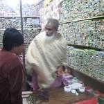 Night market thread seller