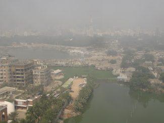 Slum viewed from Brac building
