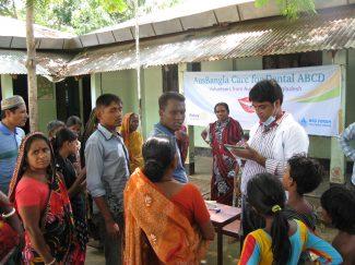 Dr Arup at Surovi school, Dhaka