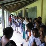The queue at Baniajuri