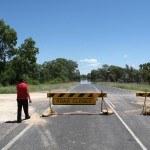 Road closed to Brewarrina, Feb 2012 floods