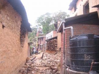 Bhattedanda homes damaged