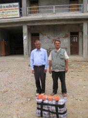 Principal and deputy principal Jalapadevi school