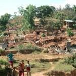 Village houses destroyed