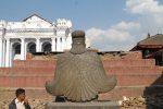 Garuda looking to Narayan temple, gone