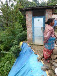 Landslip during monsoon almost took away the toilet