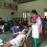 Government Primary School, Block - E dental team and volunteer